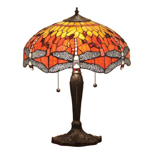 Dragonfly Flame Large Table Lamp T077T (Tiffany style)